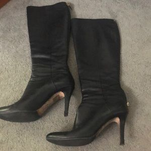 JIMMY CHOO Black leather boots. Size 37 1/2